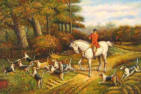 Gdr020 classical hunting Oil Paintings