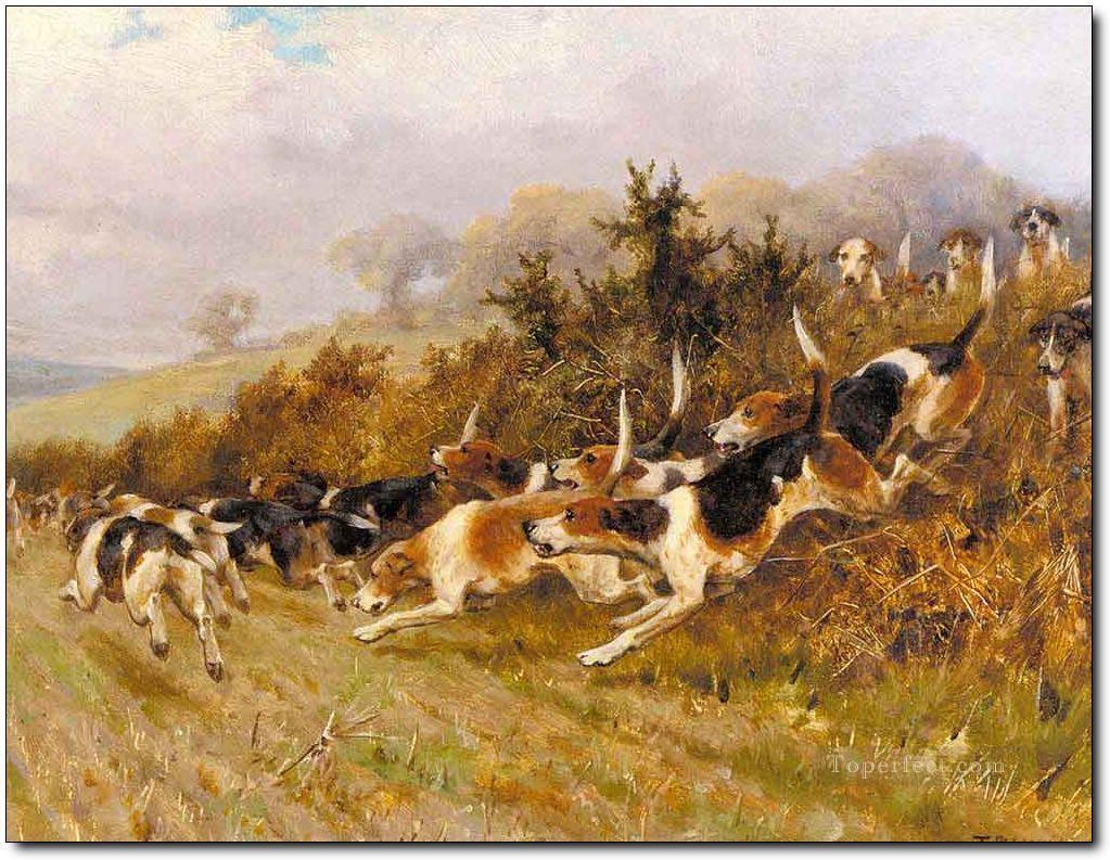 Gdr0001 classical hunting Oil Paintings