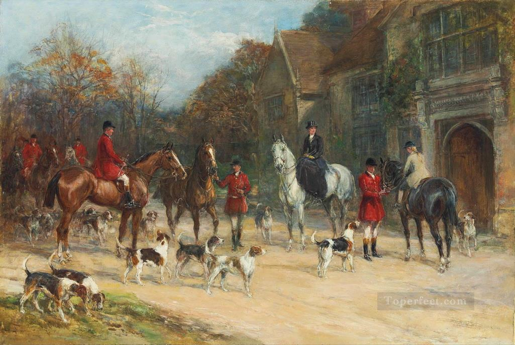 The meet Heywood Hardy hunting Oil Paintings
