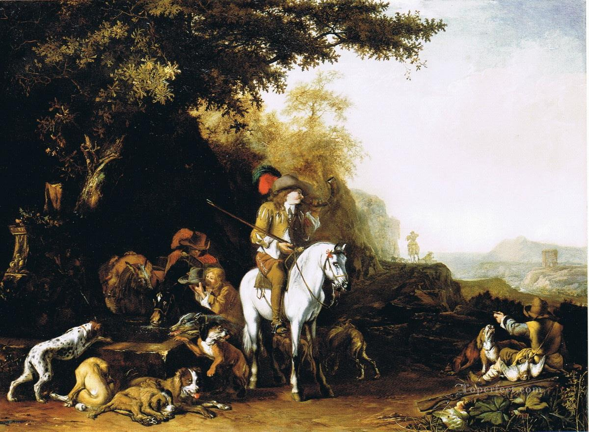 hunters at morning Oil Paintings