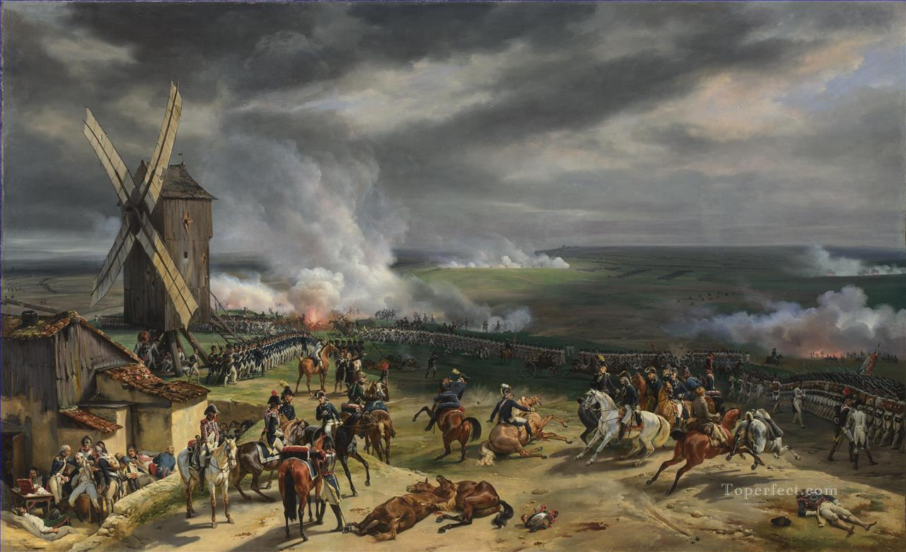 Horace Vernet The Battle of Valmy Military War Oil Paintings