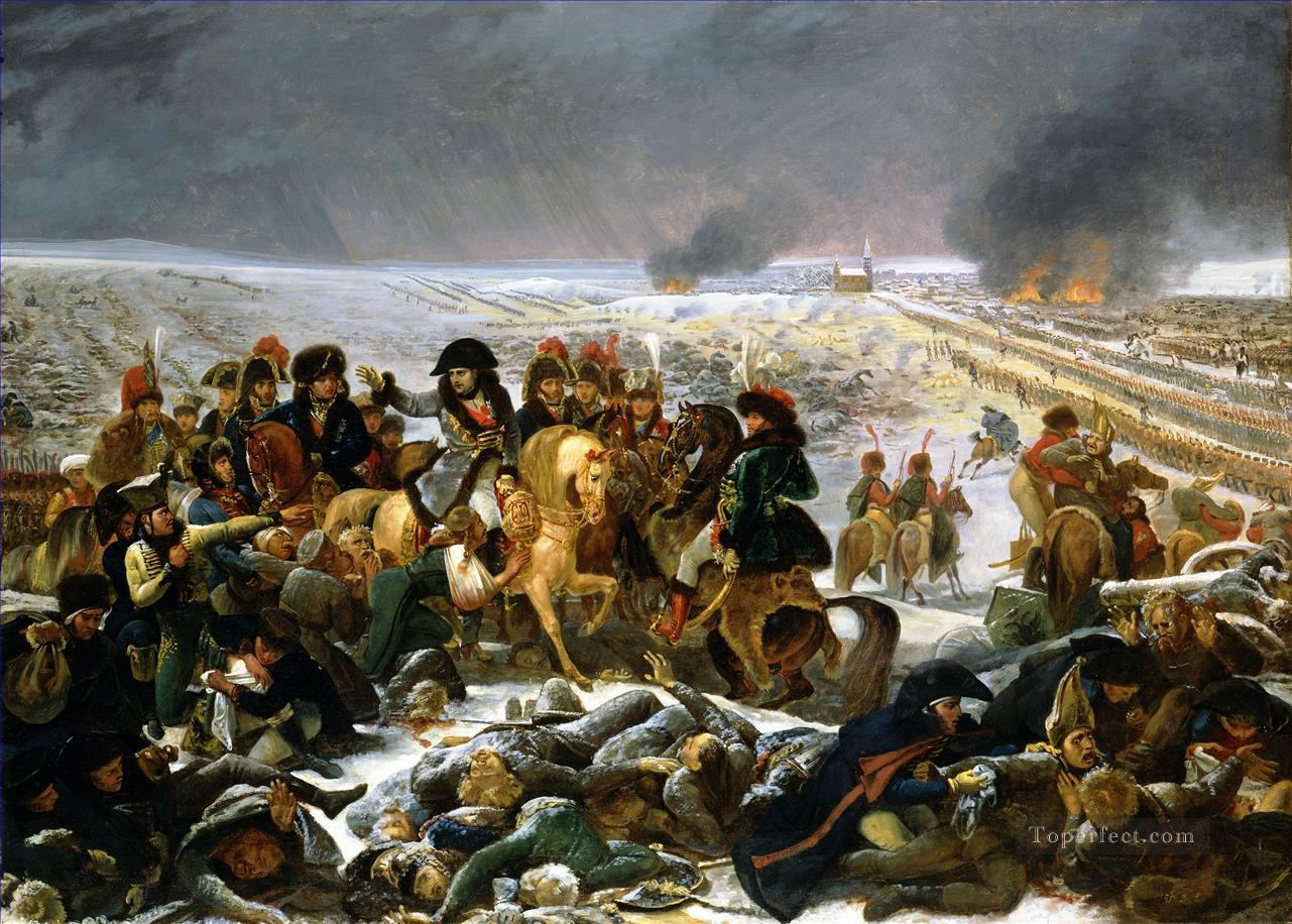 Napoleon on the Battlefield of Eylau by Antoine Jean Gros Military War Oil Paintings