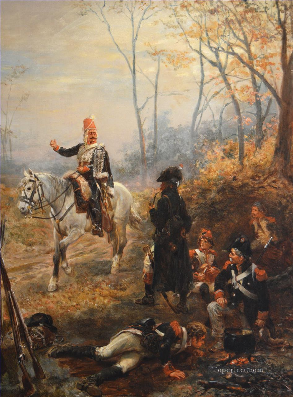 The Soldiers Rest Robert Alexander Hillingford Military War Oil Paintings