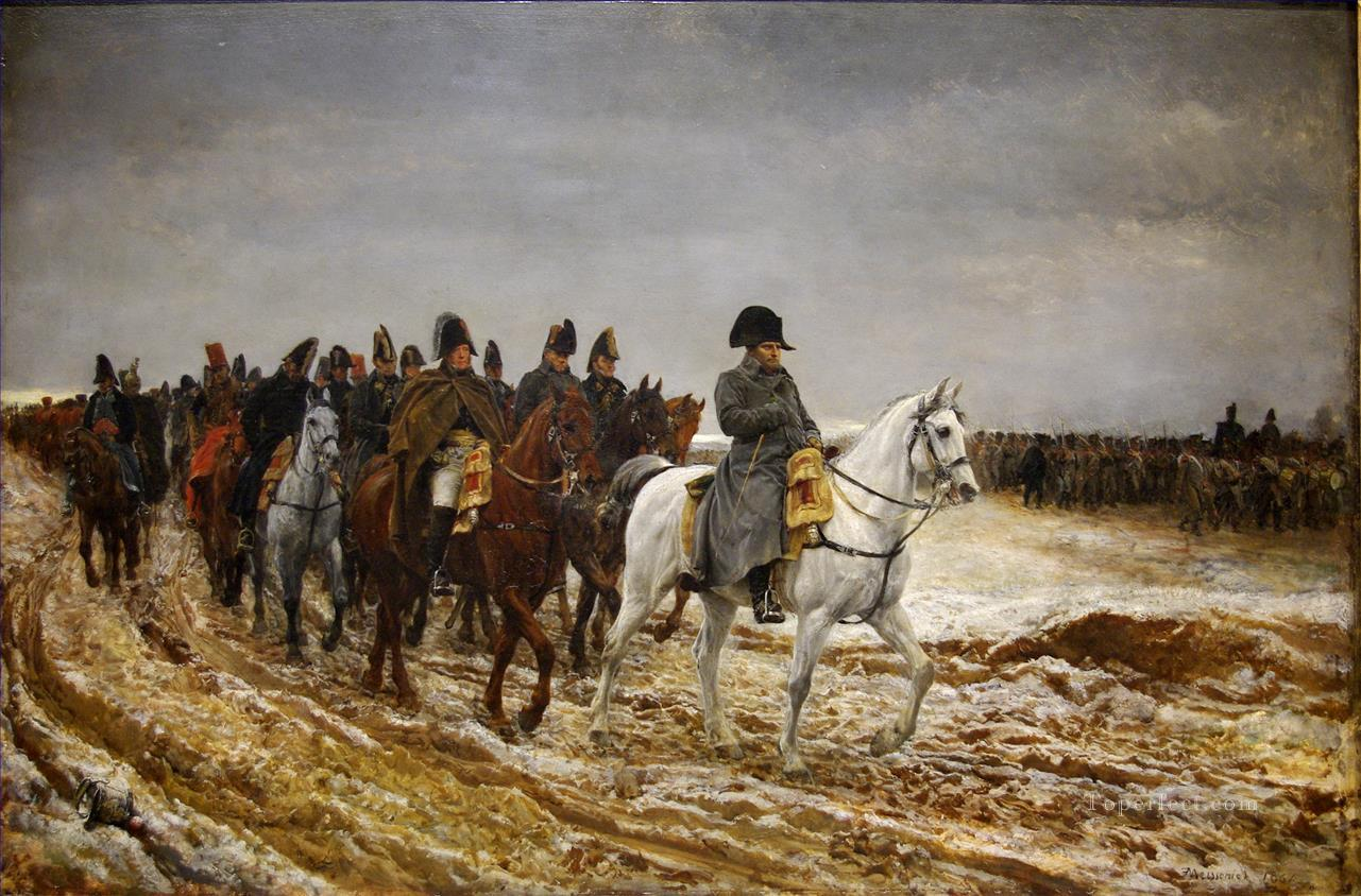 The French Campaign 1861 military Jean Louis Ernest Meissonier Ernest Meissonier Academic Military War Oil Paintings