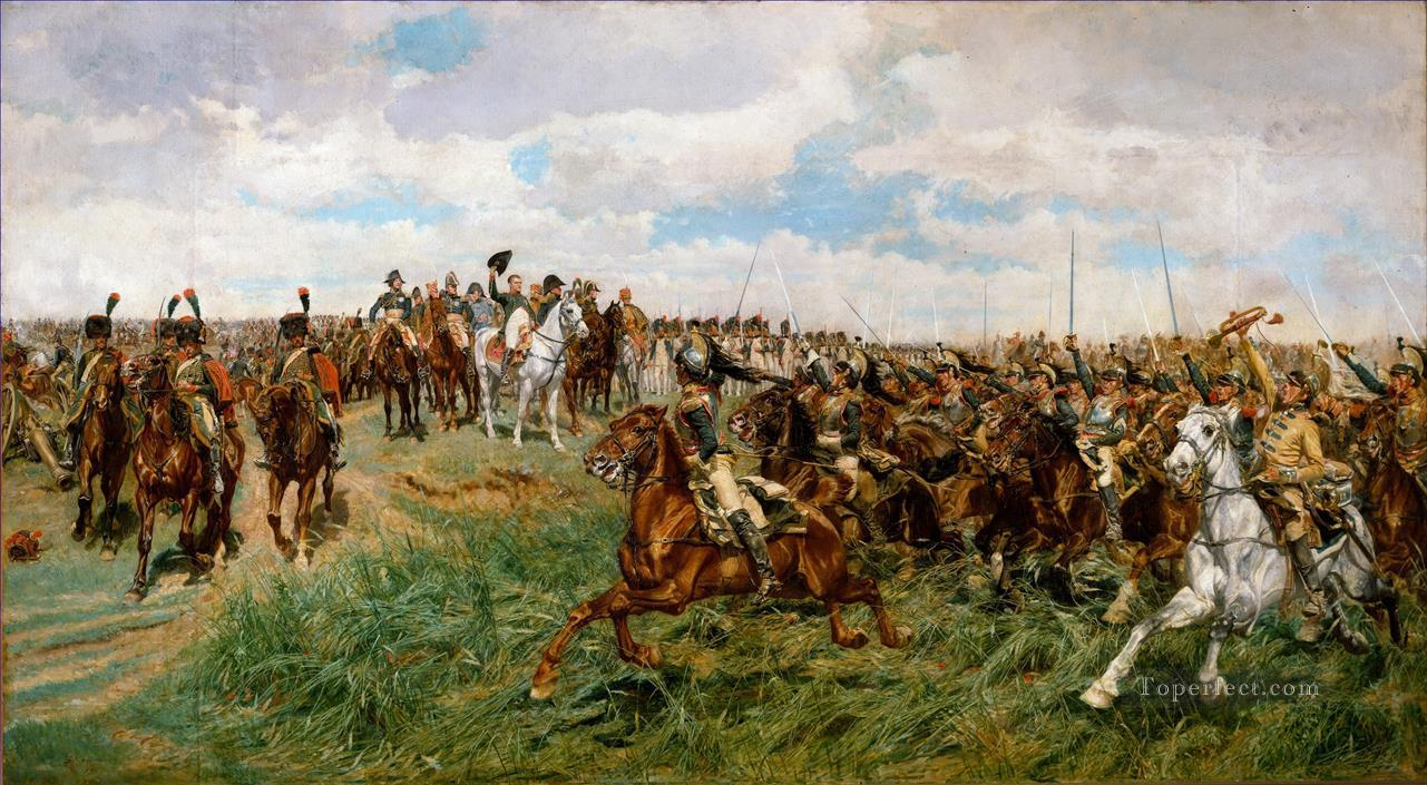 Friedland Ernest Meissonier Academic Military War Oil Paintings