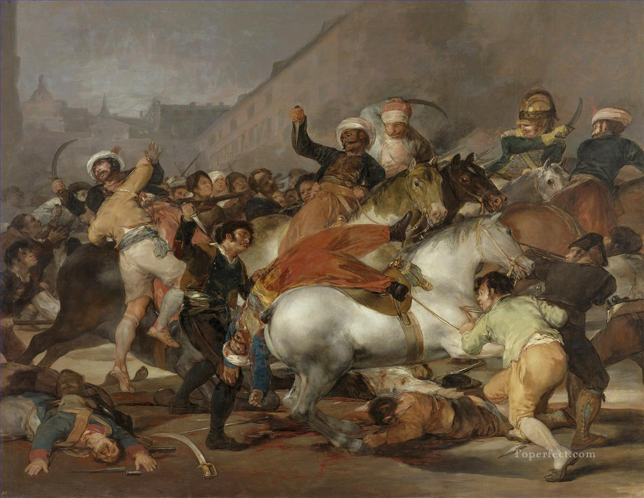 The Second of May 1808 or The Charge of the Mamelukes by Francisco Goya Military War Oil Paintings
