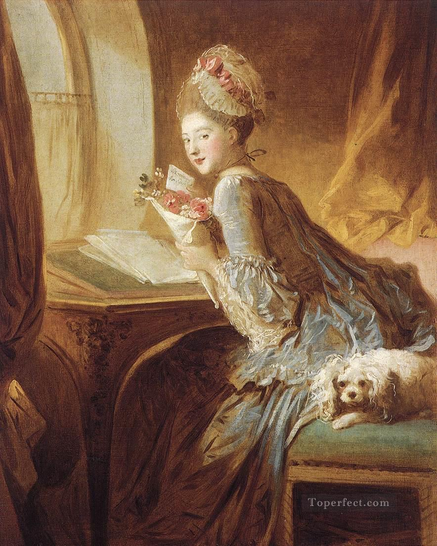 The Love Letter Jean Honore Fragonard classic Rococo Oil Paintings