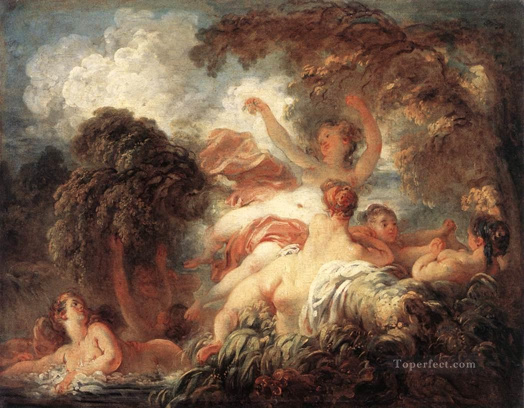 The Bathers Jean Honore Fragonard classic Rococo Oil Paintings