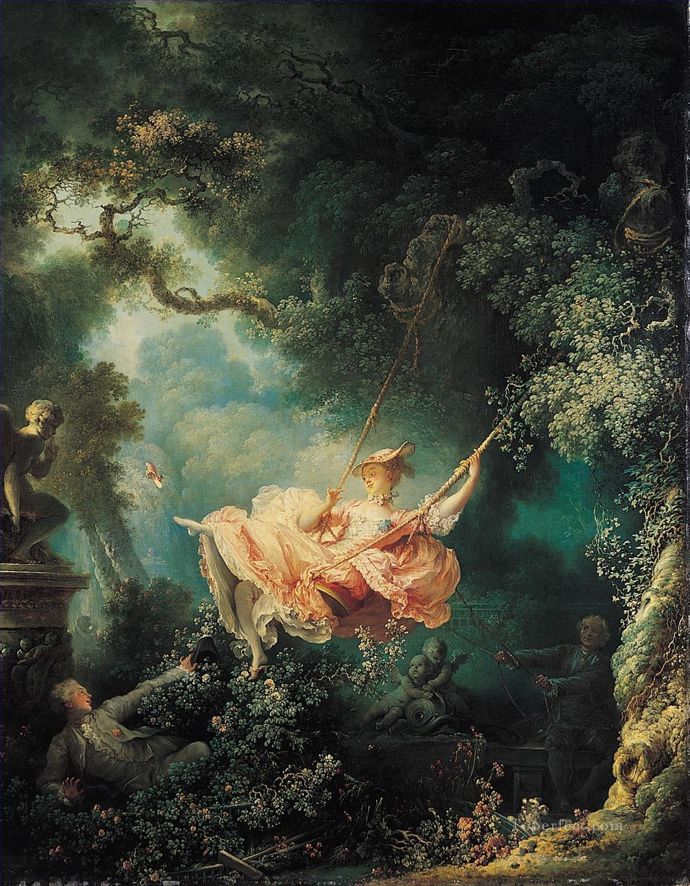The Swing Jean Honore Fragonard classic Rococo Oil Paintings