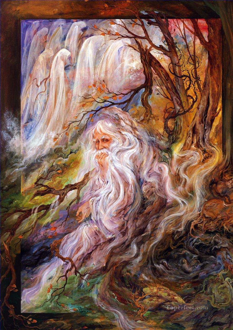 Camino inexplorado Persian Miniatures Fairy Tales Oil Paintings