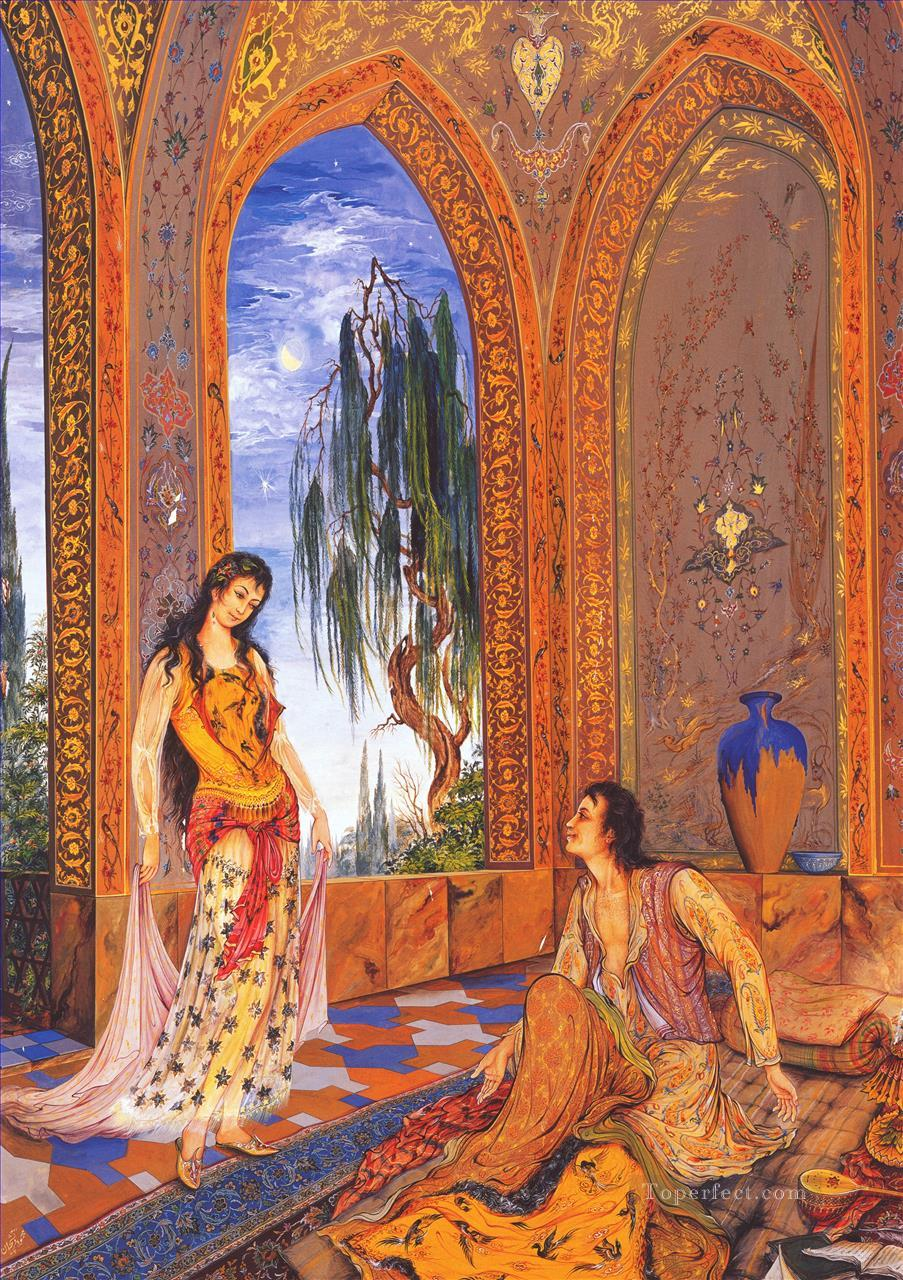 Sueno de medianoche Persian Miniatures Fairy Tales Oil Paintings