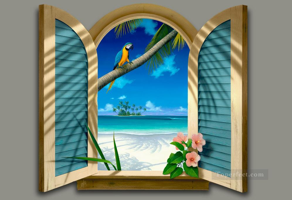 Window to Paradise magic 3D Oil Paintings