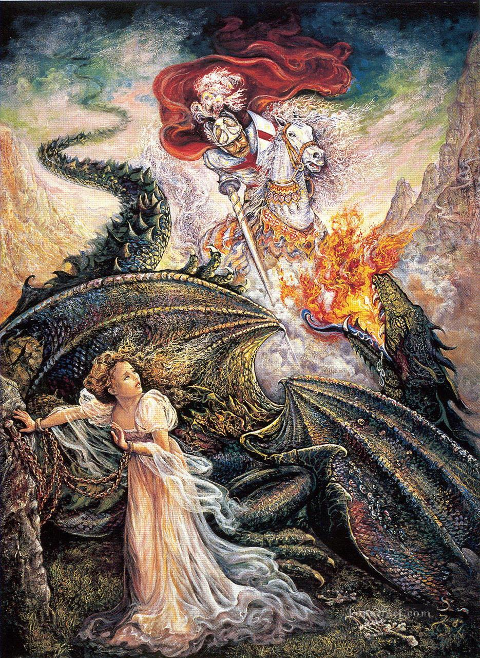 JW george and the dragon Fantasy Painting in Oil for Sale