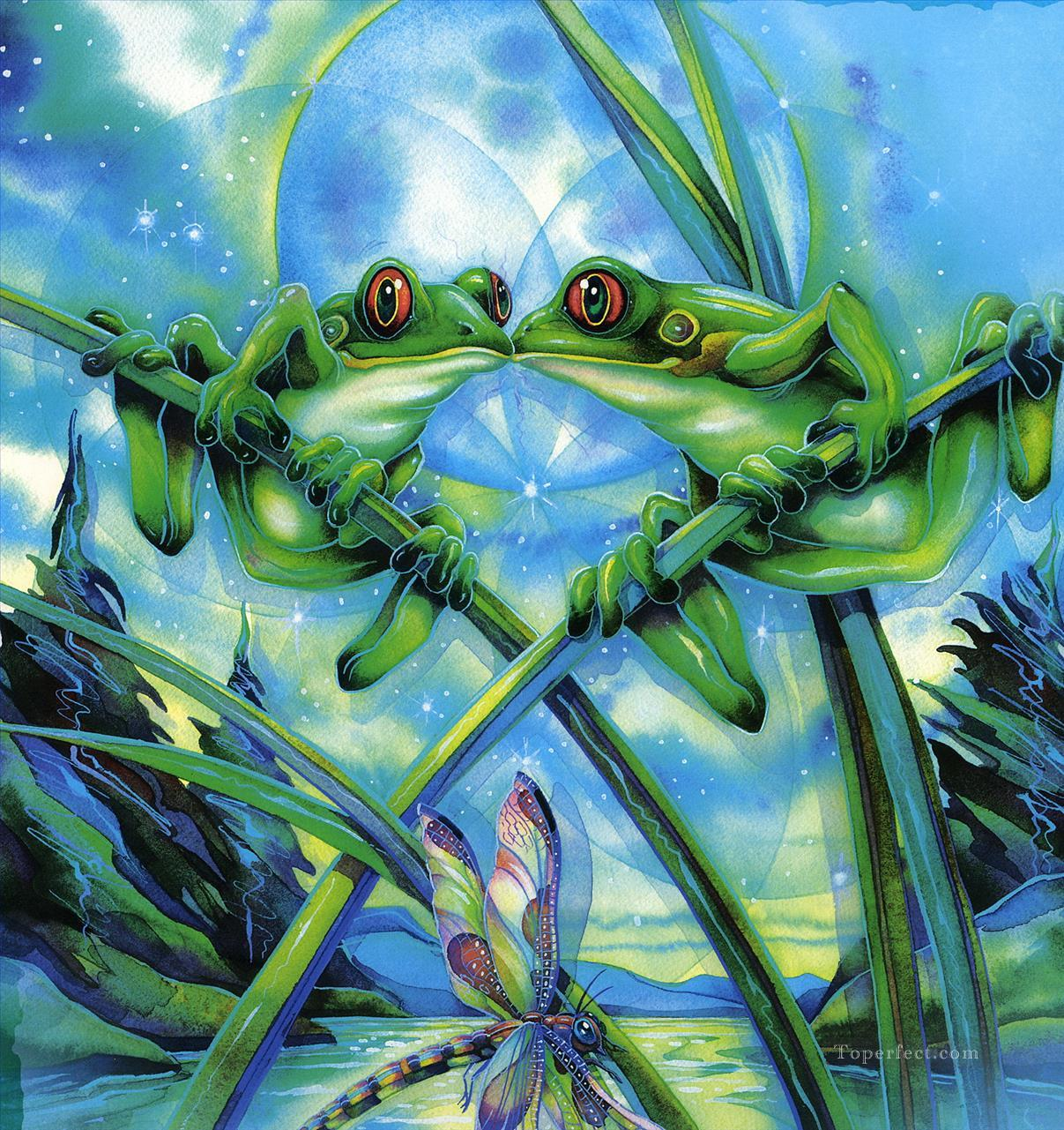 frogs and kisses Fantasy Oil Paintings