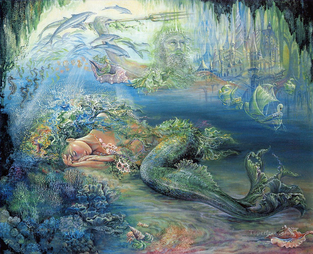 JW dreams of atlantis Fantasy Painting in Oil for Sale