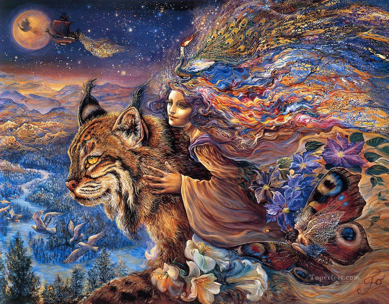 JW flight of the lynx Fantasy Oil Paintings
