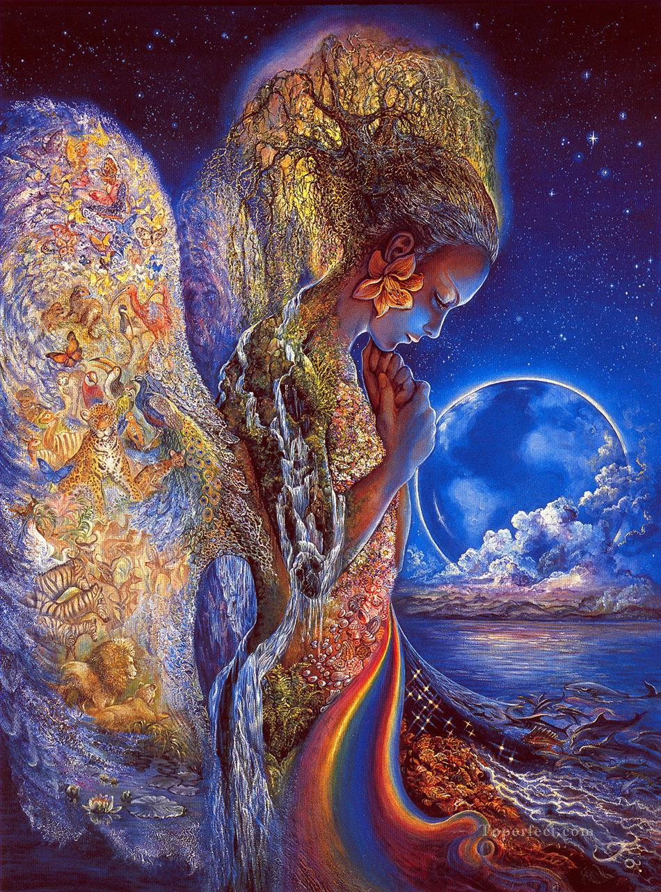 JW goddesses sadness of gaia Fantasy Oil Paintings