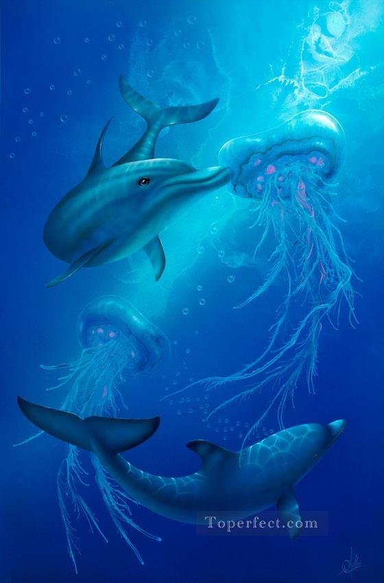 Nosey under sea Oil Paintings