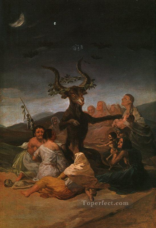 Witches Sabbath Romantic modern Francisco Goya Oil Paintings