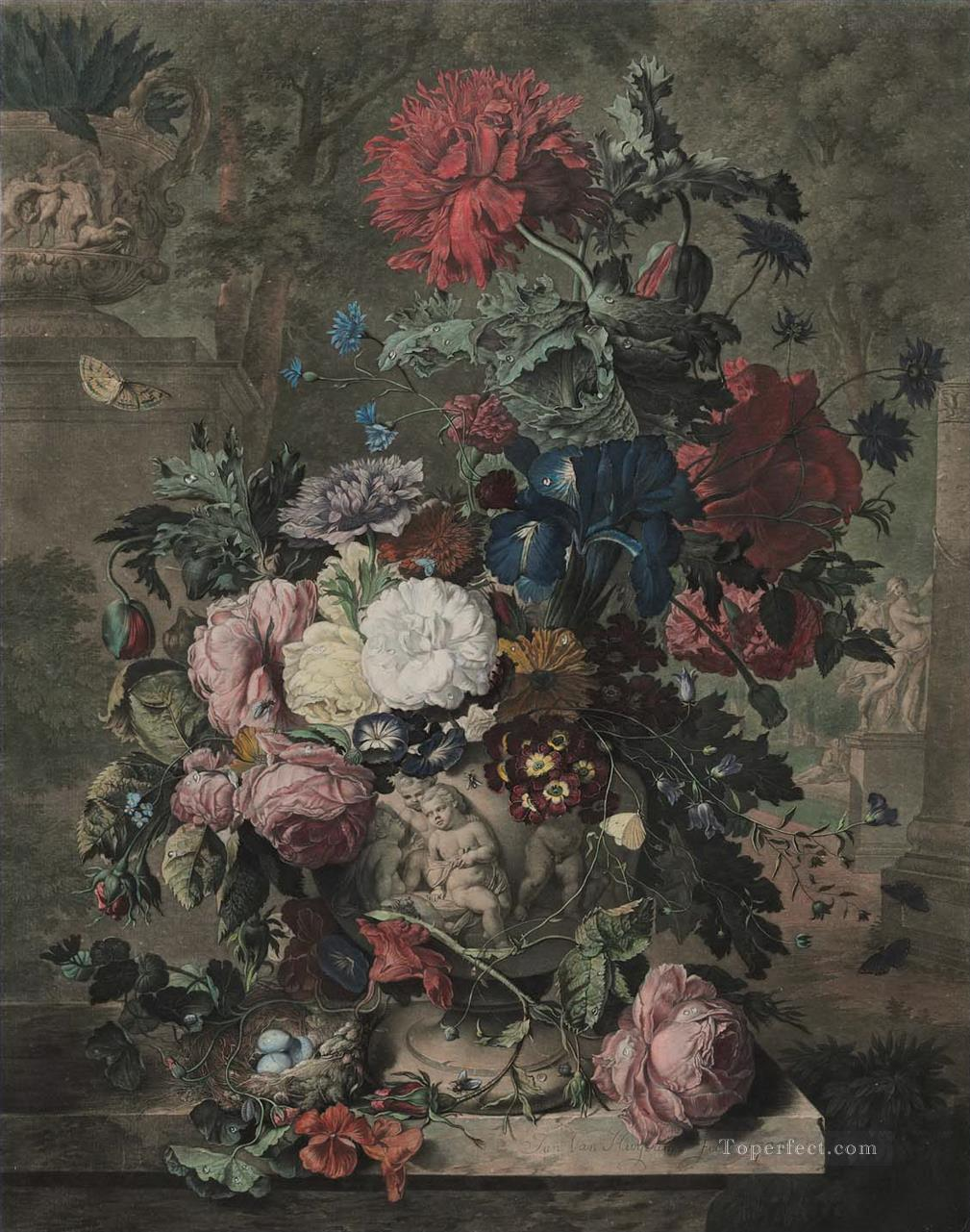 A Flower Piece 3 Jan van Huysum classical flowers Oil Paintings