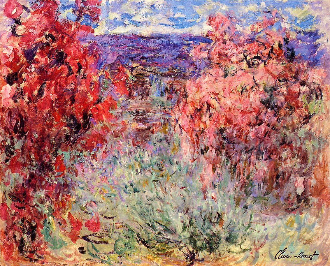 Flowering Trees near the Coast Claude Monetcirca Impressionism Flowers Oil Paintings