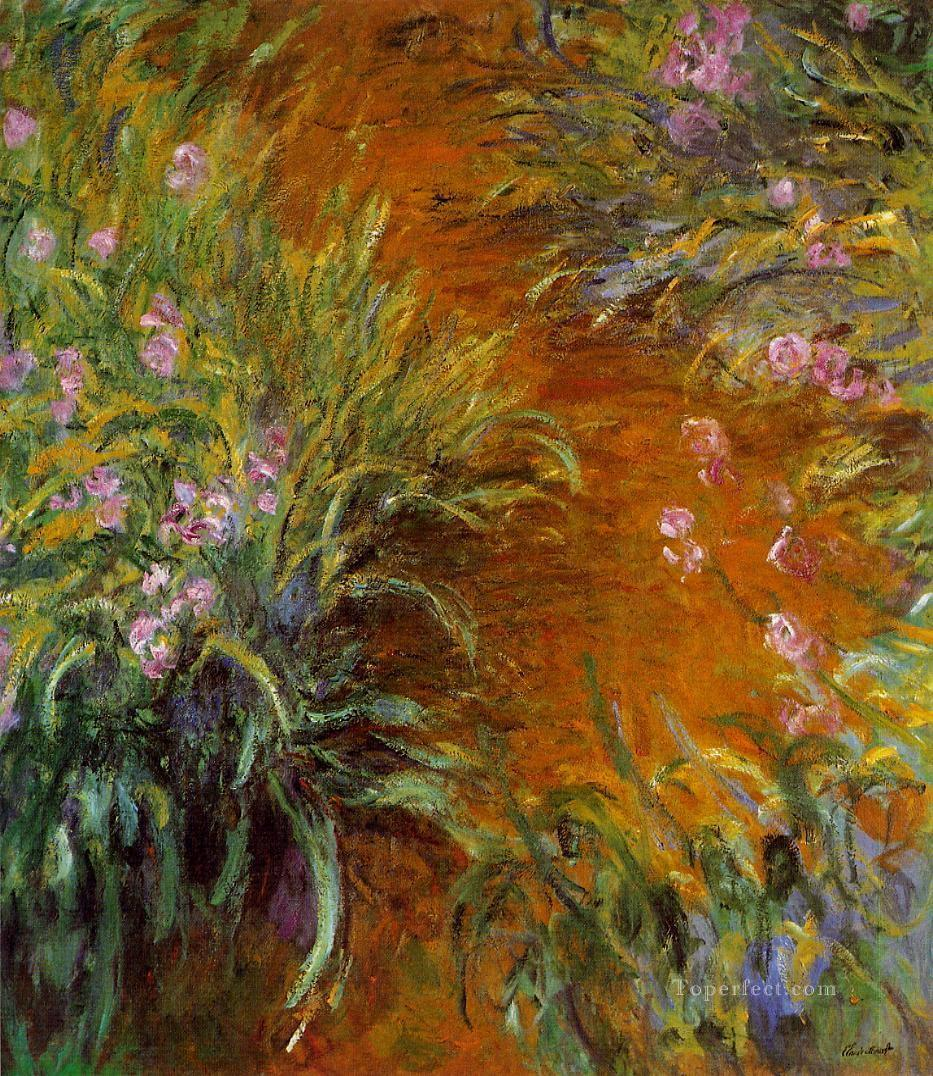 The Path through the Irises Claude Monet Impressionism Flowers Oil Paintings