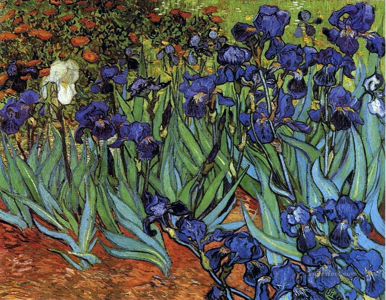 Irises Vincent Van Gogh Impressionism Flowers Painting In Oil For Sale