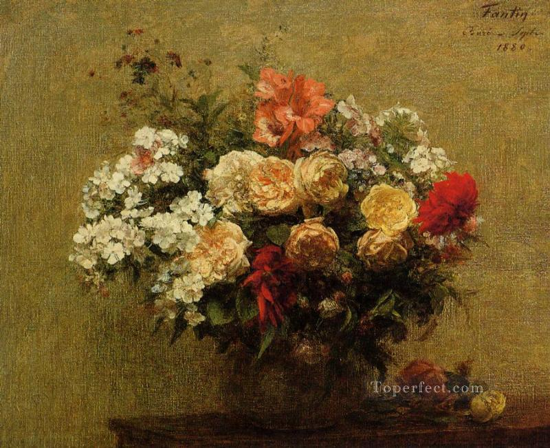 Summer Flowers flower painter Henri Fantin Latour Oil Paintings