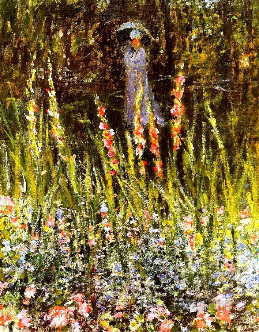 The Garden Gladioli Claude Monet Impressionism Flowers Painting in ...