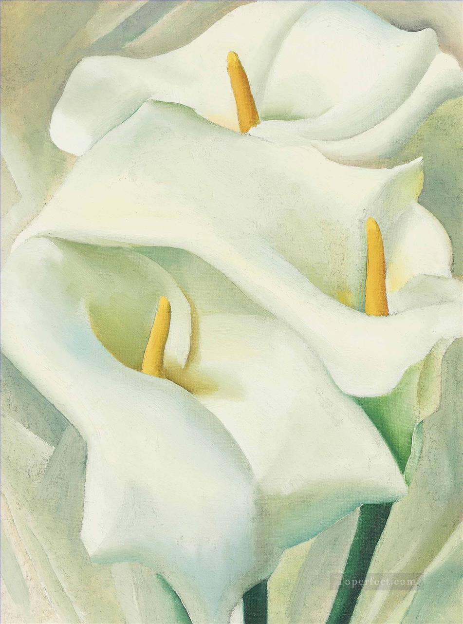 Calla Lilies Georgia Okeeffe floral decoration Oil Paintings