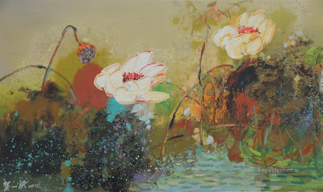 Lotus 3 modern flowers painting in oil for sale lotus 3 modern flowers painting izmirmasajfo