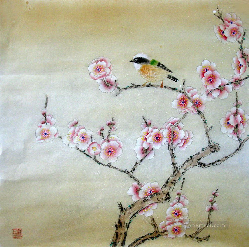 bird on plum blossom Oil Paintings