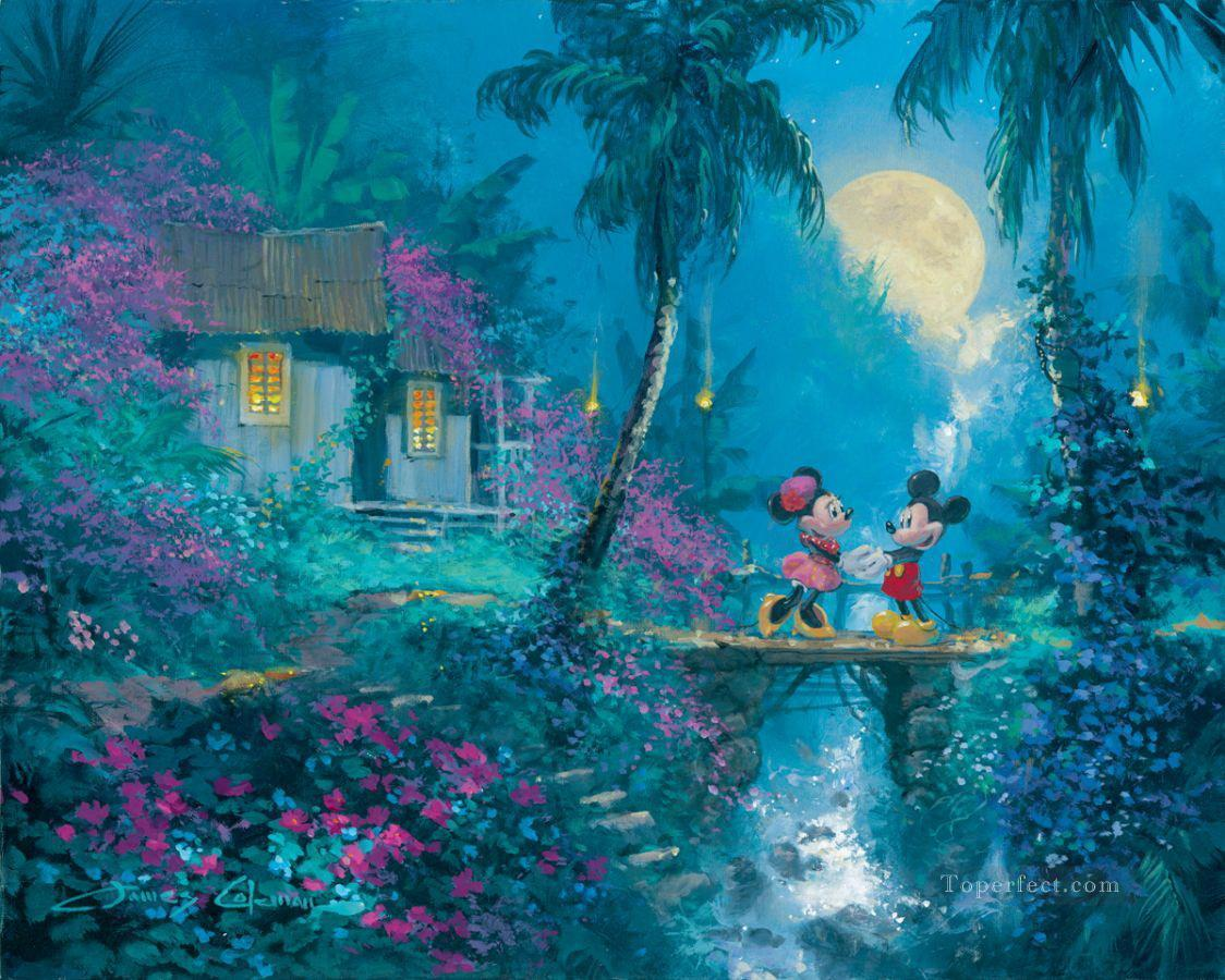Moonlight Proposal Coleman cartoon for kids Oil Paintings
