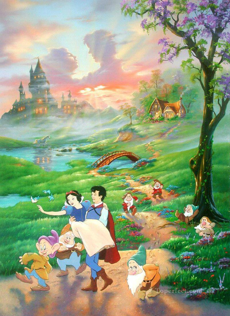 Snow white and prince cartoon for kids painting in oil for for Oil painting for kids