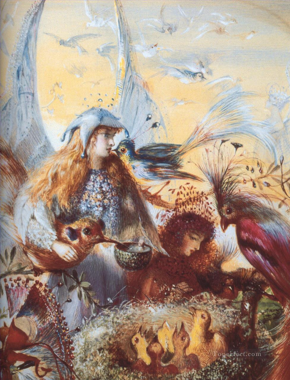 fairy and birds for kid painting in oil for sale