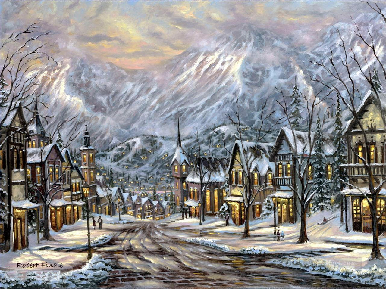 Winter Austria Robert Final kids Oil Paintings