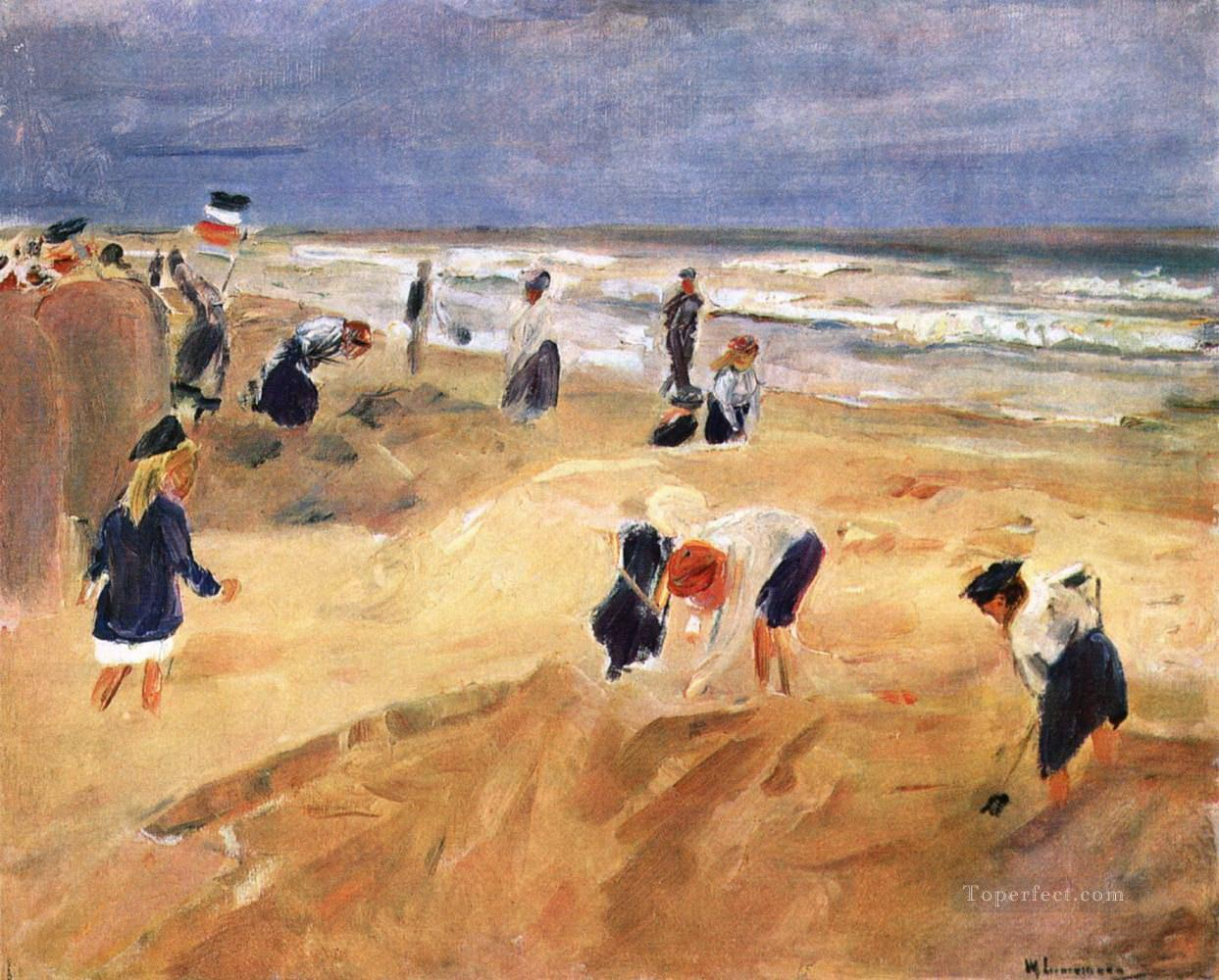 beach Child impressionism Oil Paintings
