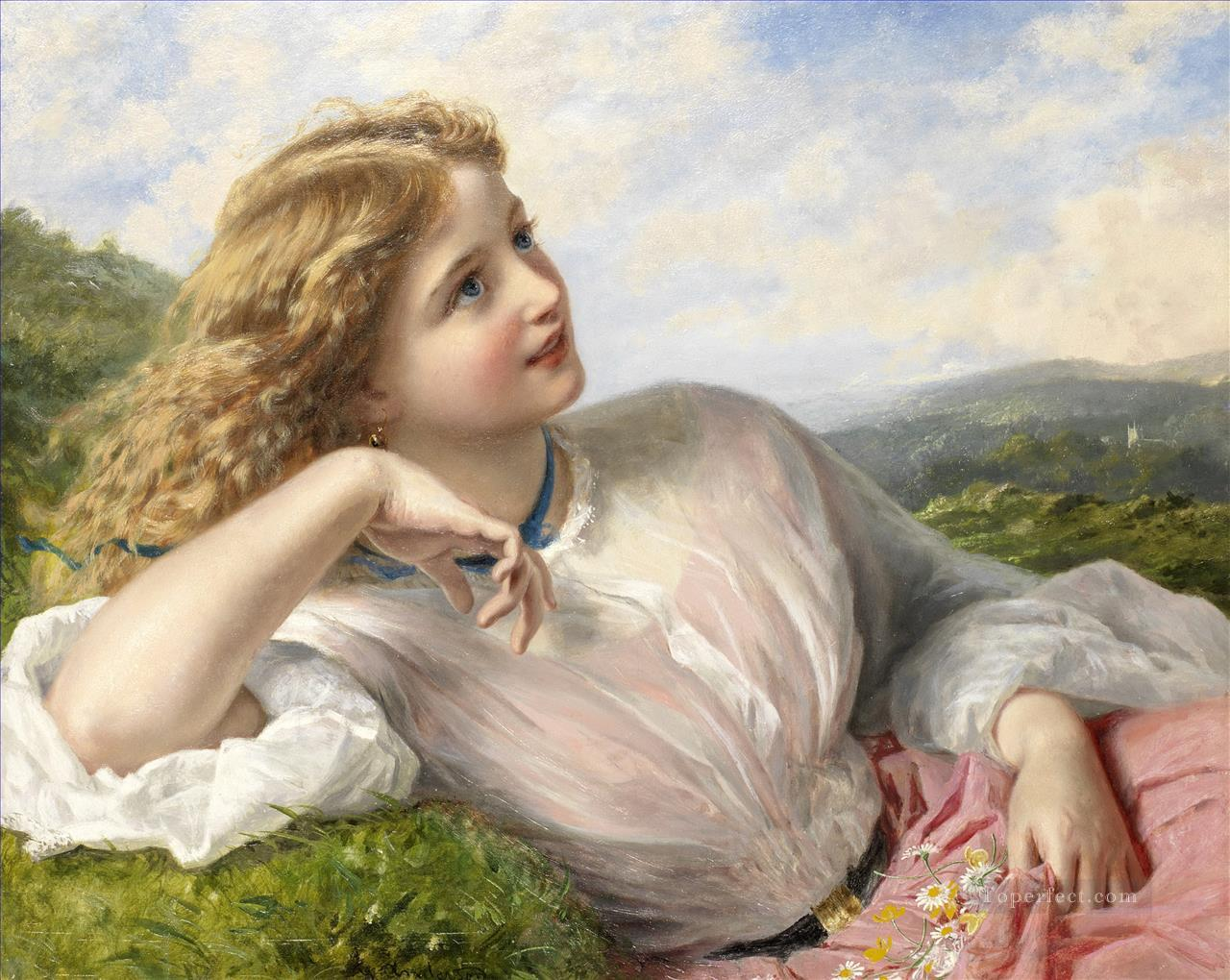The song of the lark Sophie Gengembre Anderson children Oil Paintings