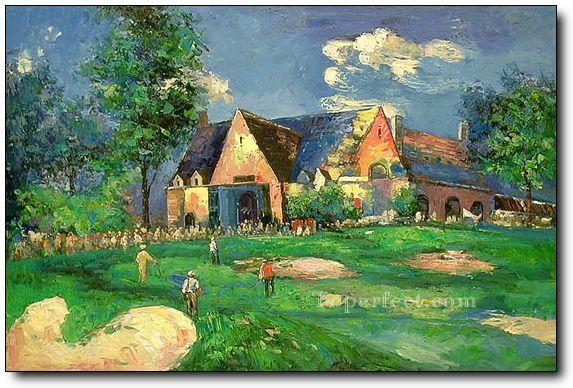 yxr0042 impressionism sport golf Oil Paintings