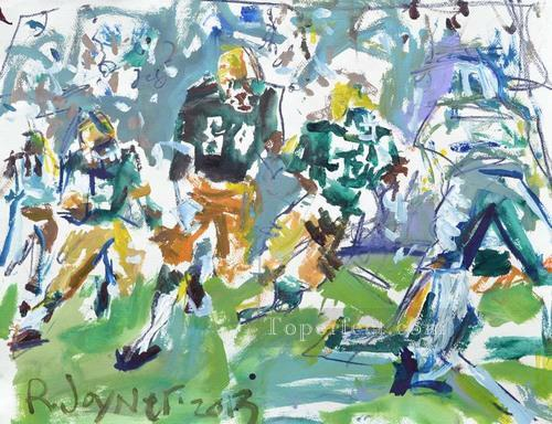 American football 04 impressionists Oil Paintings
