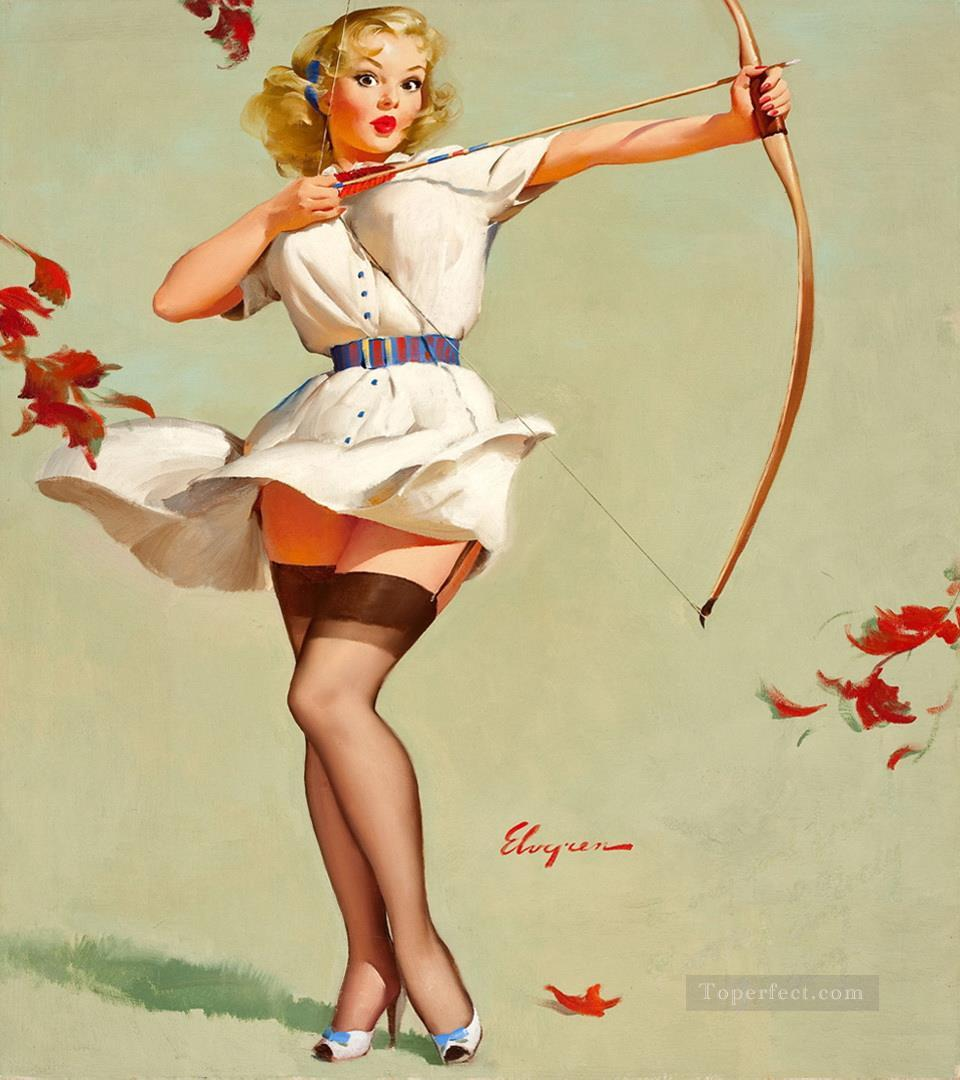 Gil Elvgren pin up 22 impressionist Oil Paintings