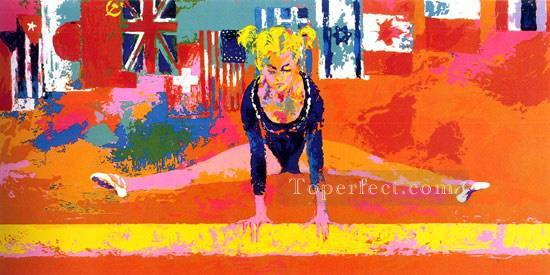 Olympic Gymnast impressionist Oil Paintings