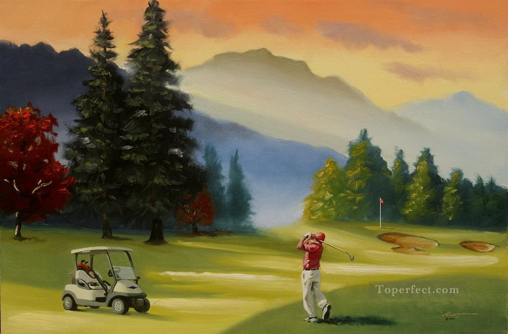 golf course 06 impressionist Oil Paintings