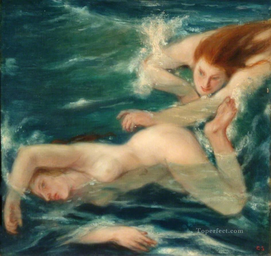 swimming nude impressionist Oil Paintings