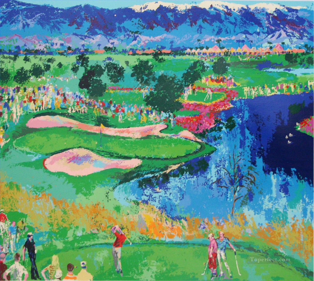 Impasto Golf Oil Paintings