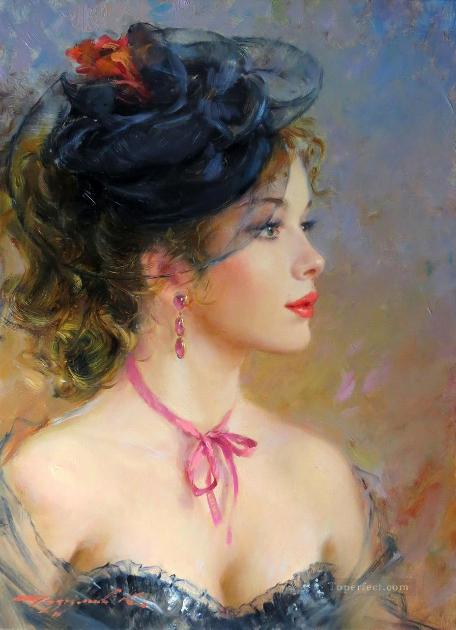 Beautiful Girl KR 048 Impressionist Oil Paintings