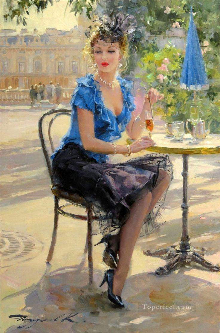 Happy Hour Impressionist Oil Paintings