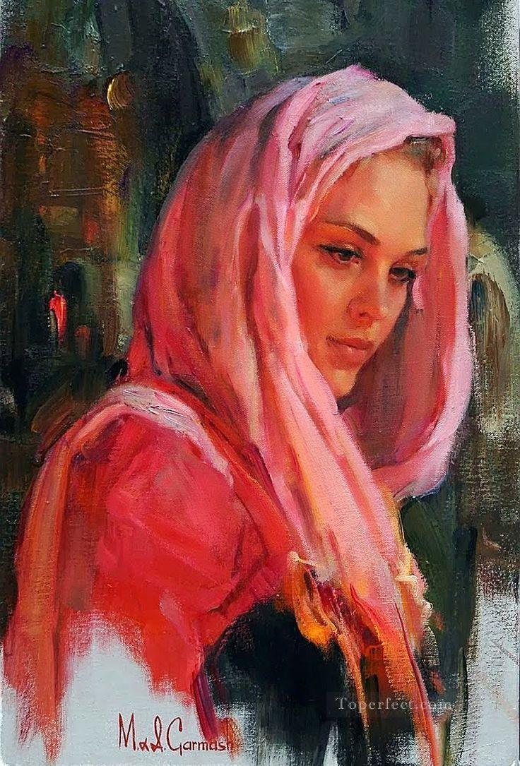 Pretty Girl MIG 05 Impressionist Oil Paintings