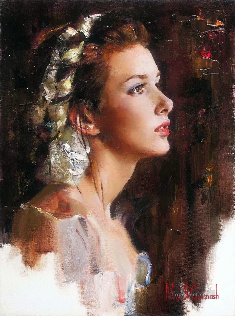 Pretty Girl MIG 37 Impressionist Oil Paintings