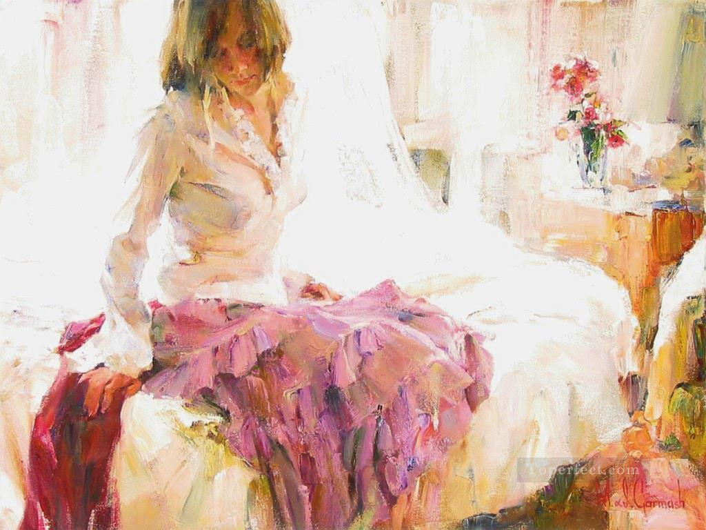 Pretty Girl MIG 44 Impressionist Oil Paintings